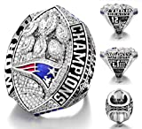 OMG-LIFE New England Patriots Super Bowl LIII Ring, NFL 2018-2019 Championship Replica Rings Size 9-13 (13, Patriots)