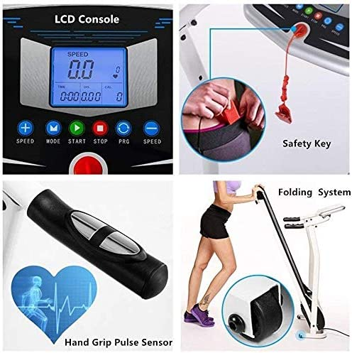 Aceshin Electric Folding Treadmill Power Motorized Walking Jogging Running Machine Cardio Fitness Exercise Equipment Space Saving for Home Gym Easy Assembly 5