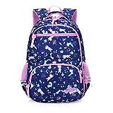Girls School Backpack Cute Bookbags for Teens Waterproof Lightweight Reflective Backpacks (Blue)
