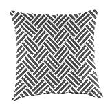 Mainstays . Grey Herringbone Outdoor Patio Dining Seat Back Pillow Cushion
