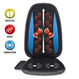 Comfier Shiatsu Back Massager with Heat -Deep Tissue Kneading Massage Seat Cushion, Massage Chair Pad for Full Back Pain Relief, Electric Body Massager for Home or Office Chair use