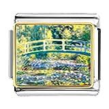 GiftJewelryShop Gold Plated Bridge at Giverny Bracelet Link Photo Italian Charm
