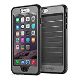 iPhone 6s Plus Case, Anker Ultra Protective Case with Built-in Clear Screen Protector for iPhone 6 Plus/iPhone 6s Plus (5.5 inch), Dust Proof Design (Black/Grey)