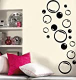 Imprinted Designs Set of 36 - Bubble Vinyl Wall Decal (Bubbles Great for Bathroom)