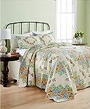 Martha Stewart Collection Cotton Coneflower Diamond Quilted Queen Bedspread