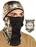 Tough Headwear Balaclava with Realtree Edge Camo Face Mask - Windproof Ski Mask - Cold Weather Face Mask for Hunting, Fishing, Camping, Skiing, Motorcycling & Winter Sports