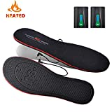 Heated Insoles with Rechargeable Battery Powered,Bial Electric Pads Foot Warmers for Men Women Warm Feet on Winter Adventures Outdoor Sports Like Working Skiing Hunting Fishing Hiking Camping (L)