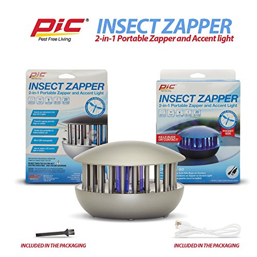 PIC Portable Electric Indoor Outdoor Mosquito Zapper Bug and Fly Killer, Insect Pest Trap