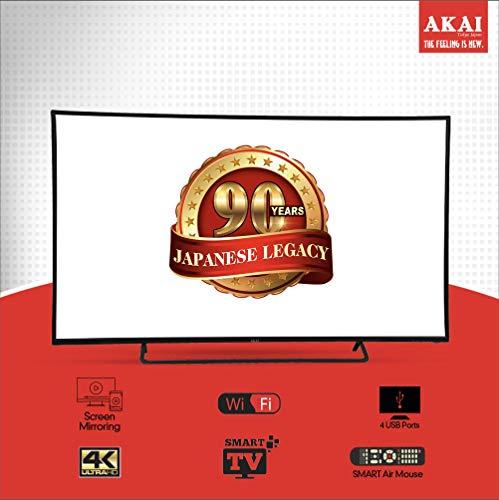 Akai 164 cm (65 Inches) 4K Ultra HD Smart LED TV AKLT65U-DS73K (Black) (2018 Model) 4