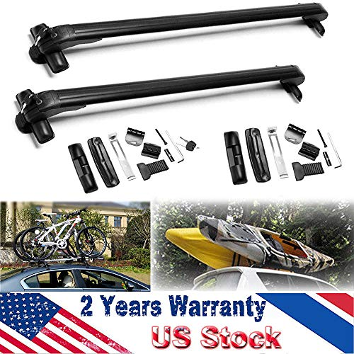 ZhanGe for Toyota Prius 2002-2016 2Pcs 43Inch Car Roof Rack Window Mount Rail Cargo Cross Bar Top Luggage Carrier Aluminum Adjustable Removable Without Rails with Anti Theft Lock System