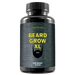 Beard Grow XL | Facial Hair Supplement | Vegan | #1 Mens Hair Growth Vitamins | for Thicker and Fuller Beard  Image