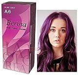 Pack of 1 Set Berina BERINA PROFESSIONALS Hair Color Cream Permanent Hair Dye Color A6 : Violet 60 G. Super Permanent Fashion Unisex