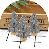 10Pcs DIY 6Cm Christmas Tree Small Pine Tree Mini Trees Placed in The Desktop Home Christmas Decorat