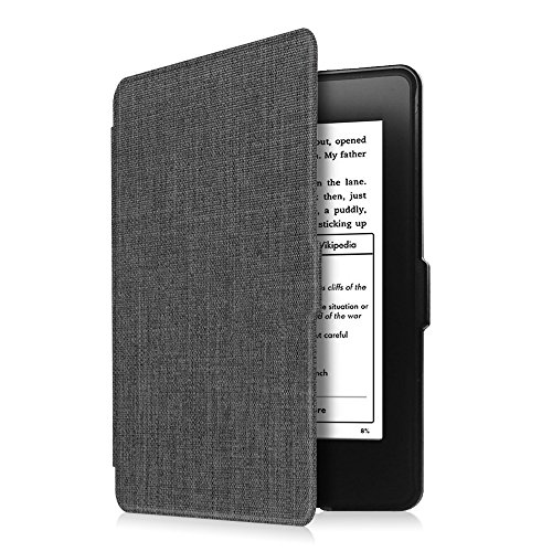 Fintie Slimshell Case for Kindle Paperwhite - Fits All Paperwhite Generations Prior to 2018 (Not Fit All-New Paperwhite 10th Gen), Denim Charcoal