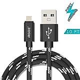 Agoz Braided Type C USB Fast Charger Data Cable Cord for GoPro Hero 7, Hero 6, Hero 5, Fusion, Karma Grip, Apple TV 4th Gen, Verizon Mifi 7730L Jetpack 4G Hotspot, Google WiFi, Nintendo Switch (10ft)