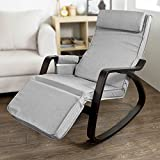 Product review for Haotian New Relax Rocking Chair Lounge Chair with Adjustable Footrest,FST20-HG,grey