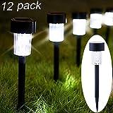 Maggift 12 Pack Solar Pathway Lights Solar Garden Lights Outdoor Solar Landscape Lights for Lawn, Patio, Yard, Walkway, Driveway