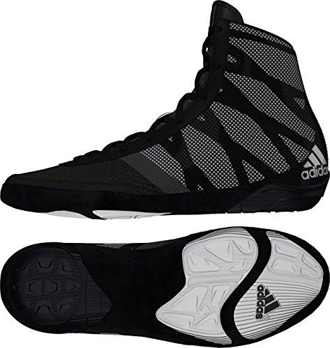 adidas Pretereo III Wrestling Shoes - Black/Silver/White - 10.5