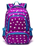 Kids Backpacks for Girls Elementary School Bag Kindergarten Durable Primary School Bookbags Girly (Purple)