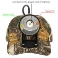 Kohree CREE 80000 LUX LED Coyote Hog Coon Hunting Light, Rechargeable Predator Hunting, 3 LED Cap Light, 5 Position Switch,...