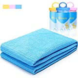 learja Cooling Towel, Chamois Travel Sport Towel, Synthetic Shammy Cloth for Travel, Camping, Beach, Backpacking, Gym, Swimming and Much More.33 x 13 inches