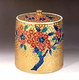 Arita - Imari | green tea bowl - tea utensils | Somenishiki golden Sakura-e water finger Fujii NishikiAya