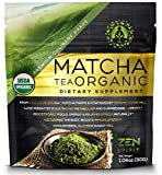 Matcha Green Tea Powder Organic - Japanese Premium Culinary Grade, Unsweetened & Sugar Free - USDA & Vegan Certified - 30g (1.06 oz) - Perfect for Baking, Smoothies, Latte, Iced tea & Weight Loss. …