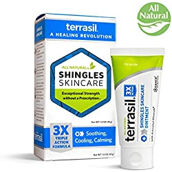 Shingles Treatment Cream - 3X Triple Action Formula 100% Guaranteed Patented All Natural for Herpes Zoster Outbreaks Causing Painful Rash and Nerve Pain by Terrasil
