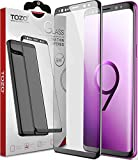 TOZO for Samsung Galaxy S9 Plus Screen Protector Glass [ 3D Full Frame ] Premium Tempered 9H Hardness Super Easy Apply for Samsung Galaxy S9 Plus work with most case Black Edge