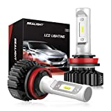 SEALIGHT H11 LED Headlight Bulbs H9 High Low Beam LED Bulb H8 H16 Fog Light, DOT Approved, Super Bright 6000K Cool White Upgraded 12x CSP Chips (Pack of 2)