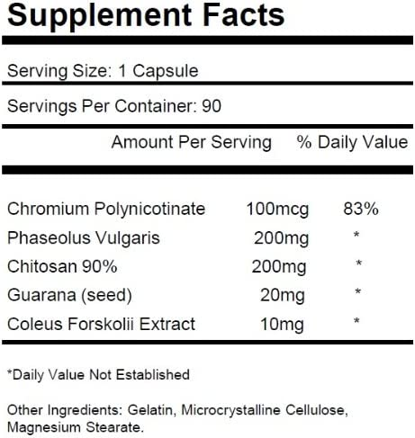 2 Bottles Fat and Carb Blocker with Phaseolus Vulgaris (White Kidney Bean Extract) Chitosan Extreme Diet Pills Weight Loss 180 Total Capsules KRK Supplements 4
