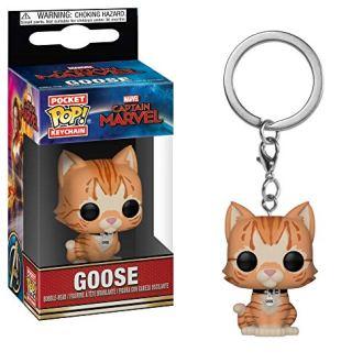 Funko-Pop-Keychain-Marvel-Captain-Marvel-Goose-The-Cat-Toy-Multicolor