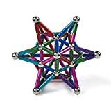 LiKee 148 Pieces Magnetic Sculpture, Magnet Fidget Toys Building Block for Stress Relief, Office and Home Desk Decor, Cool Gadget for Adult (8 Colors)