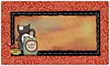 Drymate 12 by 20-Inch Cat Bowl with Place Mat in Hungry Kitty Design