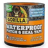 Gorilla 4612502 Waterproof Patch & Seal Tape 4' x 10' Black,