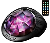 SOAIY Aurora Led Night Light & Sleeping Sound Machine with remote,Timer,built-in Bluetooth Speaker for kids,Black