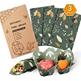 Beeswax Wrap Assorted 3 Packs, Eco Friendly Reusable Food Wraps, Biodegradable, Sustainable Plastic Free Food Storage- 3 Medium 10'x11'- Say Goodbye to Plastic
