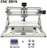 MYSWEETY CNC Machine, DIY CNC Router Kits 3018 GRBL Control Wood Carving Milling Engraving Machine (Working Area 30x18x4.5cm, 3 Axis, 110V-240V)