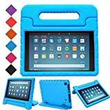 MENZO Case for Amazon All-New Fire HD 8 2018/2017 - Shockproof Convertible Handle Light Weight Protective Stand Cover Kids Case for Fire HD 8' (2017 and 2018 Releases) Tablet, Blue