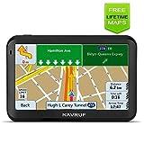 Car GPS Navigation+2018 Latest Maps,Spoken Turn- to-Turn Traffic Alert Vehicle GPS Navigation System, 5-inch 8GB with Sun Visor& Free Lifetime Traffic