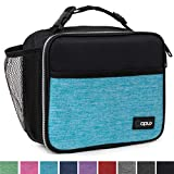 OPUX Premium Insulated Lunch Bag for Adults Men Women | Soft Leakproof Lunch Box for Kids, Boys, Girls| Reusable Durable Thermal Lunch Pail for School Work Office | Fit 6 Cans (Turquoise)