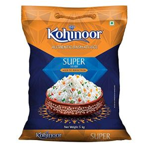 Kohinoor Super Silver Aged Basmati Rice In 5 Kg | Basmati Rice In India