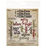Sizzix 660058 Thinlits Die, Holiday Words Scripts by Tim Holtz, 17 Pack, Multi