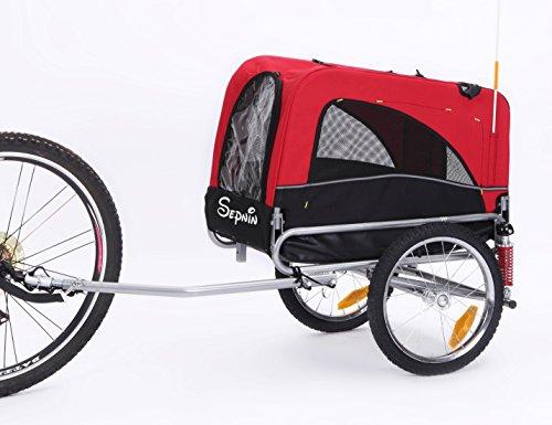 Sepnine 2 in 1 Medium Sized Comfortable Bike Trailer Bicycle Pet Trailer/Dog Cage 10308S 1