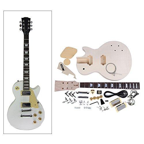 Andoer LP Style Electric Guitar DIY Kit Set Mahogany Body