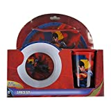 Officially Licensed Melamine Dinnerware Plate Bowl Cup Set - Superman