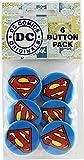 "Button set DC Comics Originals Superman Logo 6 Individual Loose Buttons, 1.25"", White"