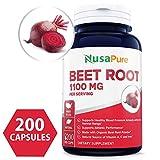 Beet Root 1100mg 200 Veggie caps (Organic, Non-GMO & Gluten Free) - Lower Blood Pressure, Increase Performance, Regulate Insulin Response & Maintain Skin Condition 100% Money Back Guarantee!