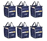 Insulated Reusable Grab Bag Grocery Shopping Tote Holds Up To 40 lbs (6)