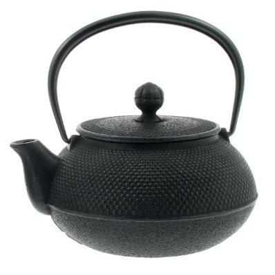 Iwachu 29-Ounce Japanese Iron Hobnail Tetsubin Arare Teapot, Large, Black